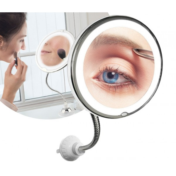 ESPEJO DE AUMENTO FLEXIBLE CON LUZ - FLEX MIRROR